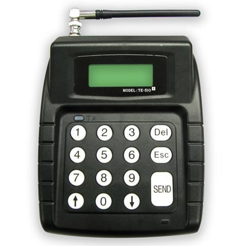 De alpha transmitter kan tekstberichten versturen en kan worden gekoppeld aan het eigen netwerk. Er kan ook een toetsenbord worden gekoppeld.